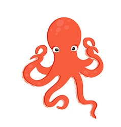 Sea creature octopus vector