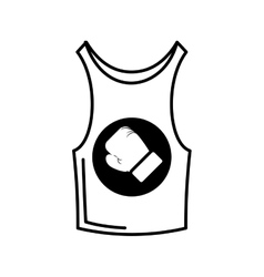 shirt boxing uniform icon vector image vector image