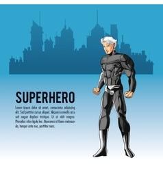 Superhero man cartoon design vector
