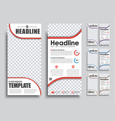 templates banners with place for photo in 4 color vector image vector image
