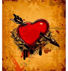 valentine grunge background vector image