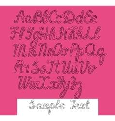 Writing abc black vector image vector image