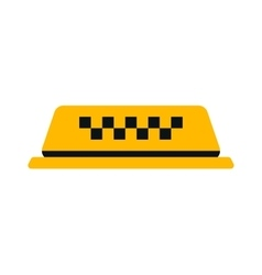 Yellow taxi car sign vector