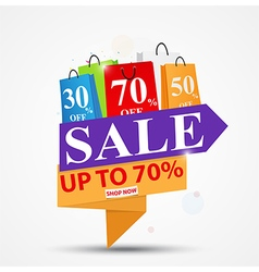 Sale banner design for shop and vector