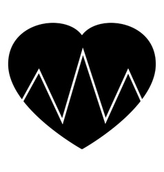 Cardiogram heart icon simple style vector