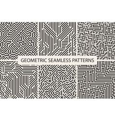 Sriped seamless geometric patterns Digital design vector image