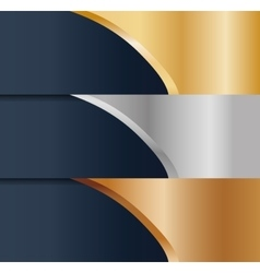 Abstract gold silver bronze metals icon image vector