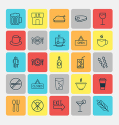 Restaurant icons set collection of closed placard vector