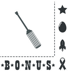 Screwdriver icon sign and button vector