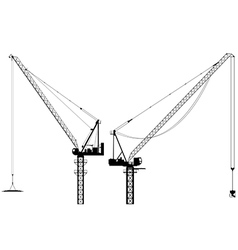Tower cranes vector
