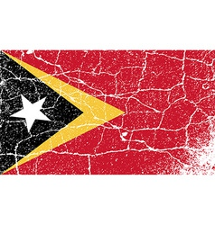 Flag of east timor with old texture vector