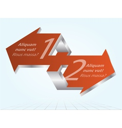 3D Impossible Arrows Inforgraphic Element Icon vector image