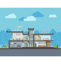 Modern house section vector