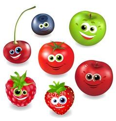 collection cartoon fruit vector image