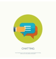 Flat chatting background vector