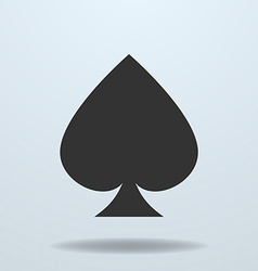 Icon of spades card suit vector