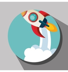 Spaceship rocket icon vector