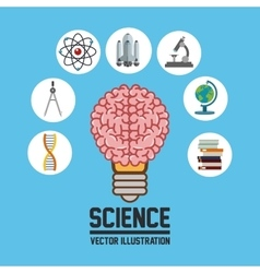 Science icons design vector image