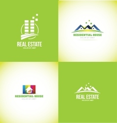 Real estate logo design set vector