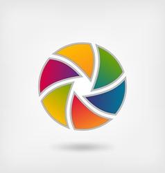 lens multicolor icon vector image