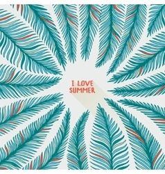 Hand drawn palm leaves vector