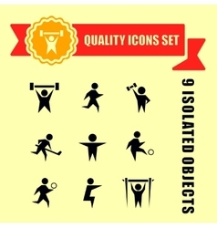 Sports charge man icons vector