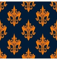 Floral heraldic seamless pattern of fleur-de-lis vector