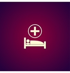 Hospital bed flat design style vector