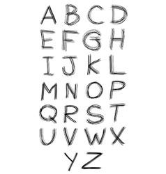 Abc alphabet type font set of vector