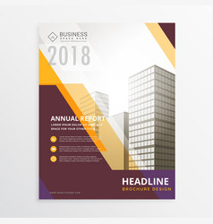 annual report business flyer poster brochure vector image vector image
