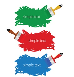 brush in color vector image