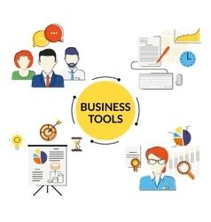 Business tools set vector