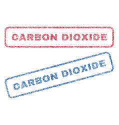 Carbon dioxide textile stamps vector