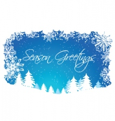 Christmas winter scene vector image vector image