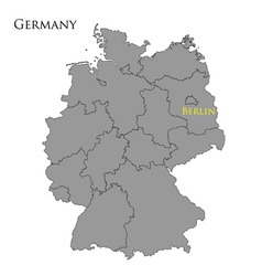 Contour map of germany vector