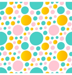 Cute abstract bubbles rounds seamless pattern vector image vector image