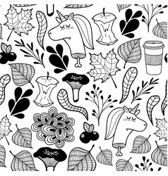 endless pattern in black and white with dead vector image vector image