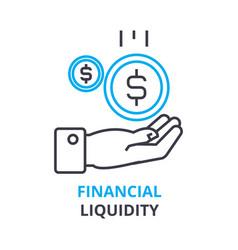 financial liquidity concept outline icon linear vector image