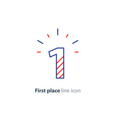 First step concept achievement level linear icon vector