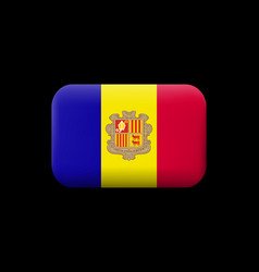 Flag of andorra matted icon and button vector