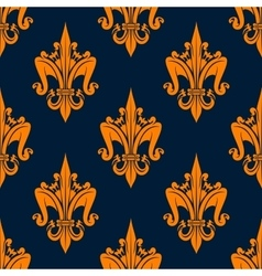 Floral heraldic seamless pattern of fleur-de-lis vector image vector image