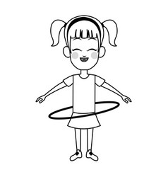 girl cartoon icon vector image vector image