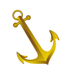 Gold silhouette of anchor icon design vector