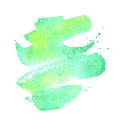 green watercolor brush stroke background vector image