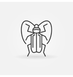 Insect icon or logo vector image