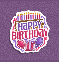 logo happy birthday vector image