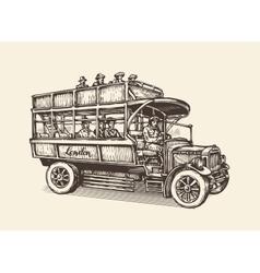 London city bus Vintage sketch vector image vector image