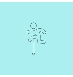 man figure jumping over obstacles vector image
