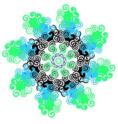mandala with twists circular pattern vector image vector image