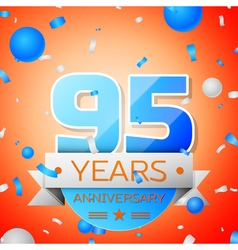 Ninety five years anniversary celebration on vector image